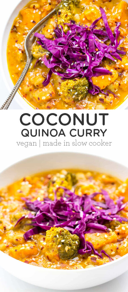Slow Cooker Coconut Quinoa Curry