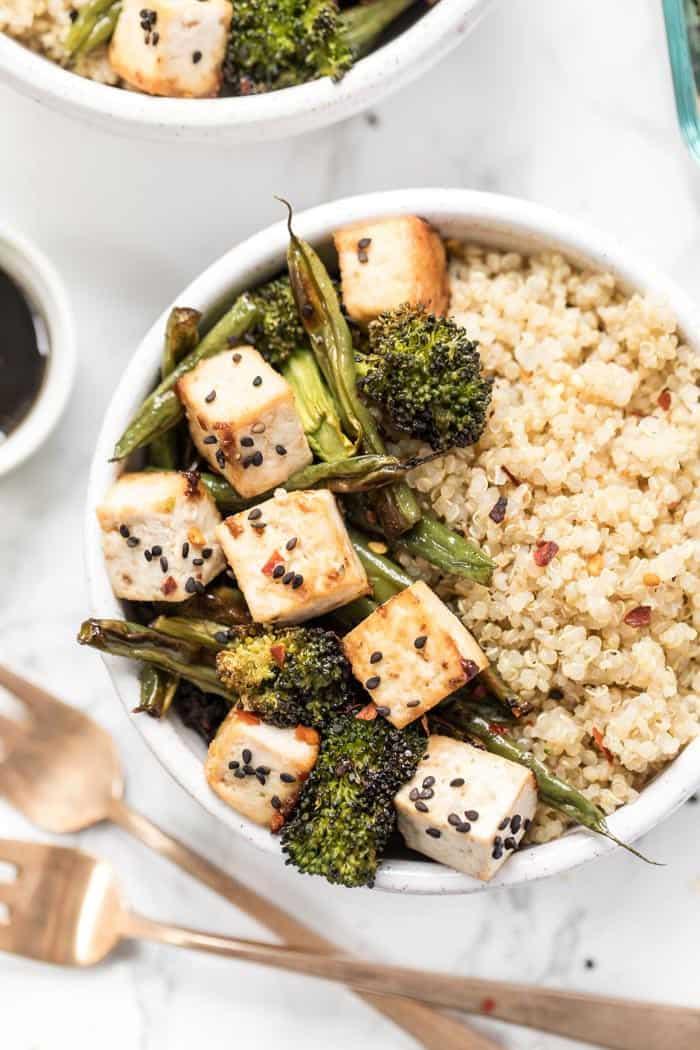 how to make garlic green beans and tofu