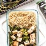 vegan meal prep recipe tofu quinoa bowls