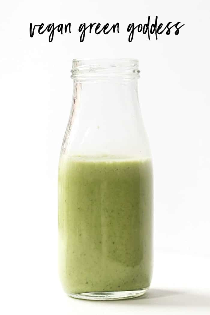 how to make vegan green goddess dressing