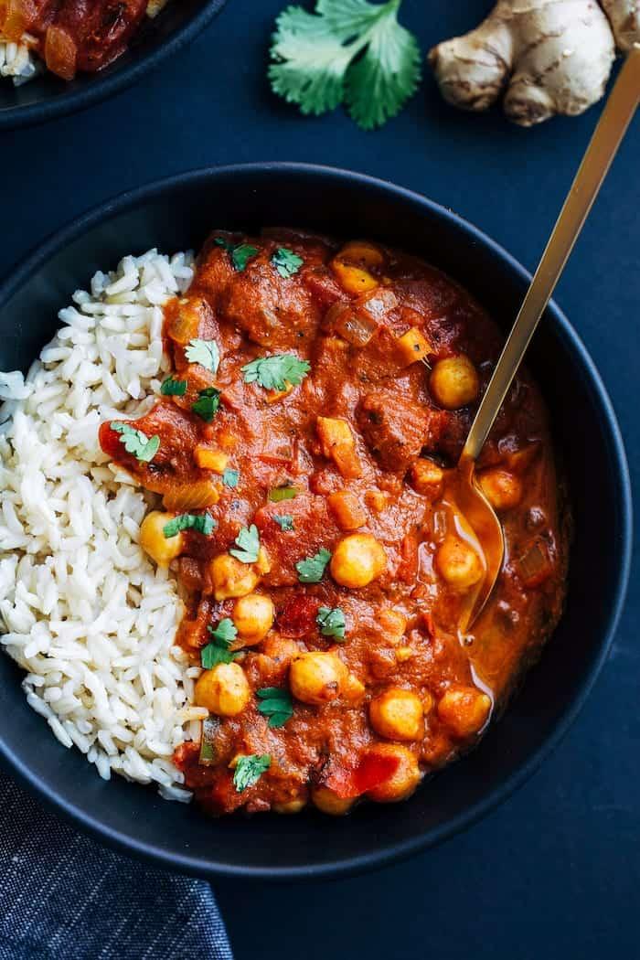 vegan chickpea tiki masala recipe
