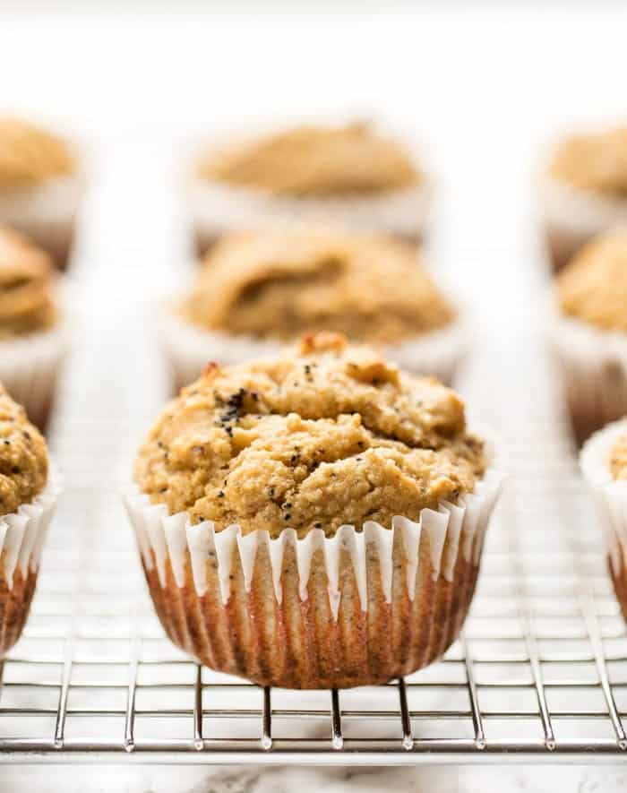 how to make gluten-free lemon poppy seed muffins