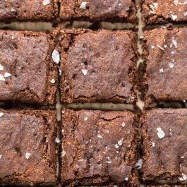 healthy vegan nutella brownies with homemade nutella