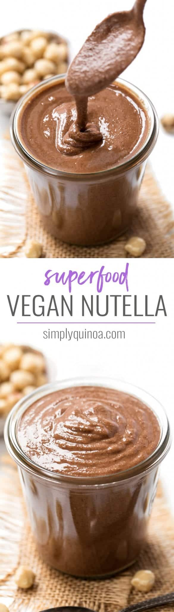 how to make healthy vegan nutella using superfoods