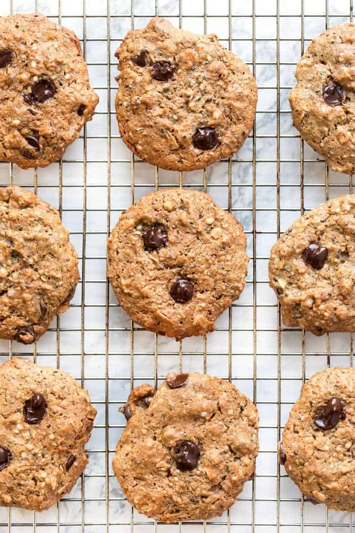 chocolate coconut protein cookies for a healthy dessert