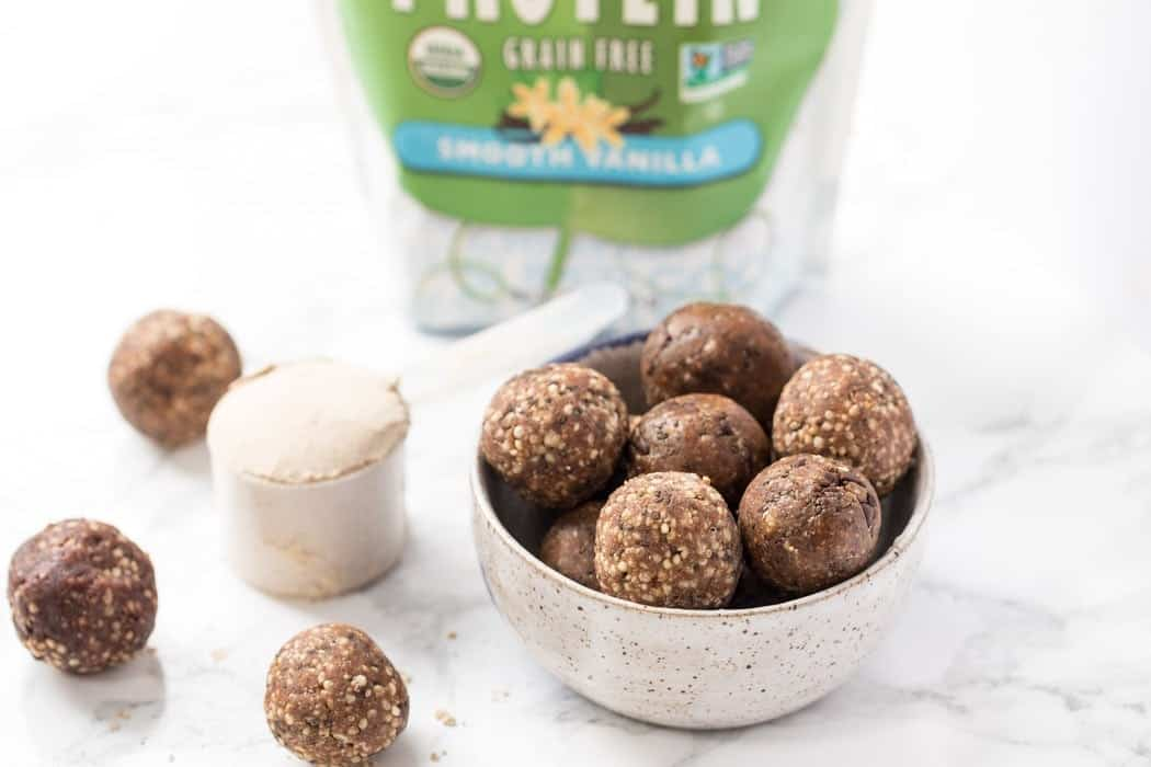 healthy energy balls for a healthy snack idea