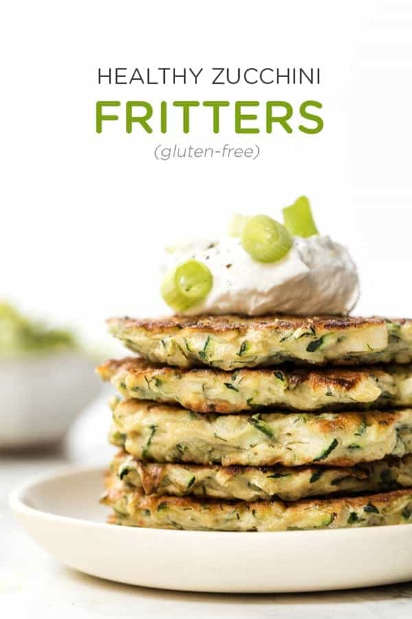 healthy zucchini fritters made with quinoa flour and eggs
