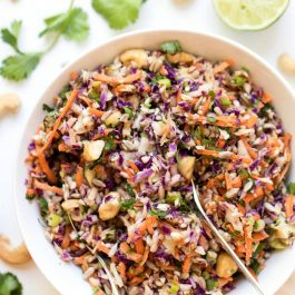 mayo-free vegan coleslaw recipe with creamy tahini dressing