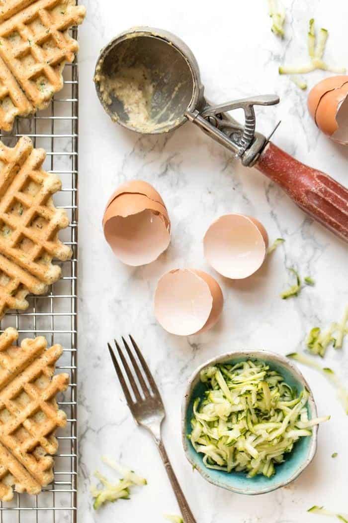 how to make savory almond flour waffles