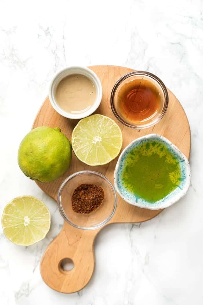 5-ingredient chili tahini dressing