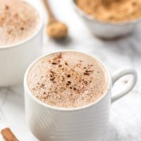 caffeine-free maca latte with energizing superfood powders