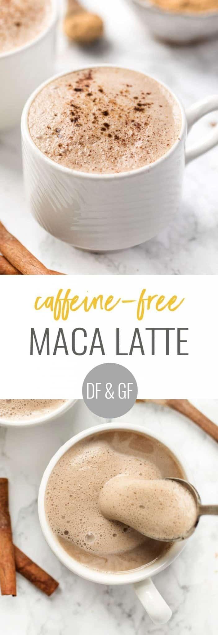 how to make a caffeine-free maca latte