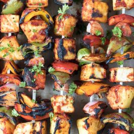 how to make bbq tofu kebabs with pineapple and peppers