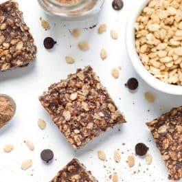 how to make healthy vegan rice crispy treats using dates