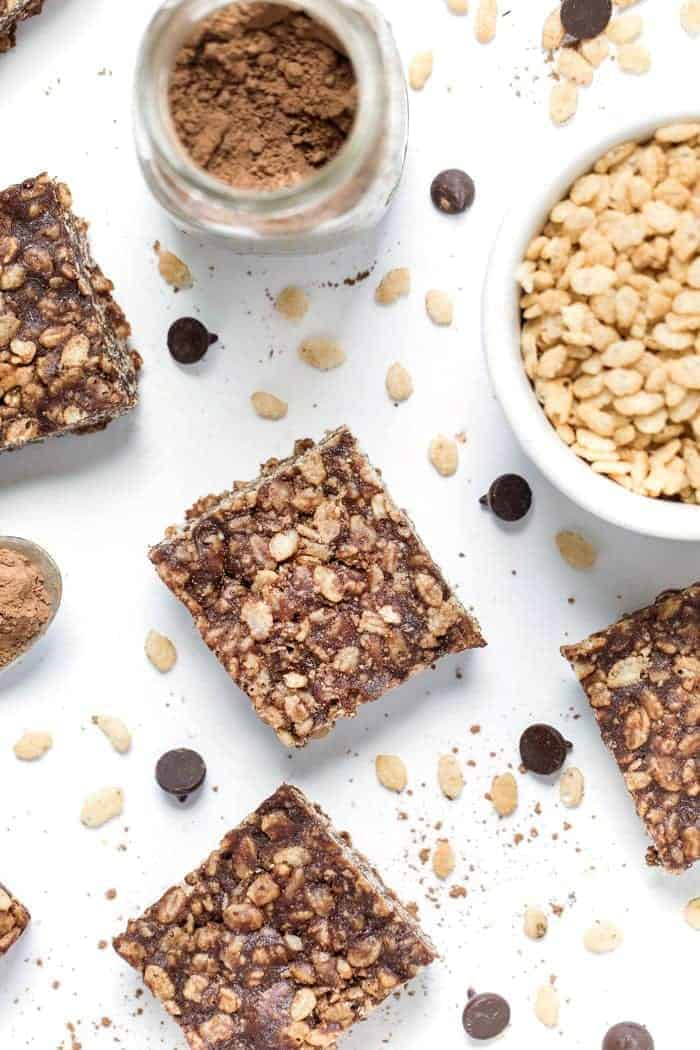 how to make healthy vegan rice crispy treats using dates
