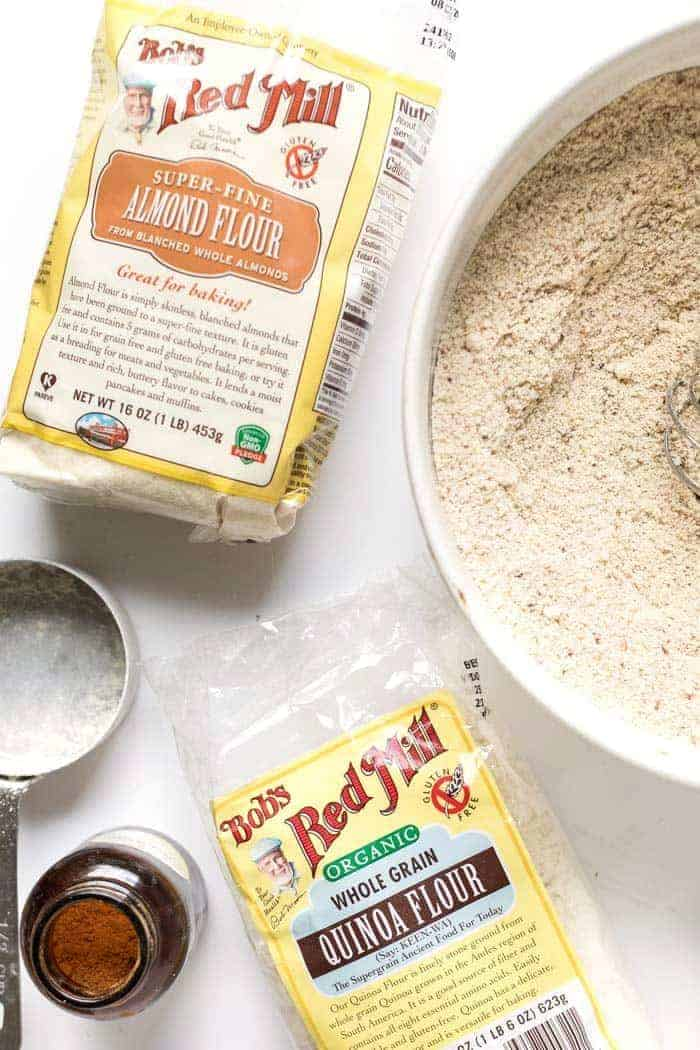 gluten-free baking with almond flour and quinoa flour
