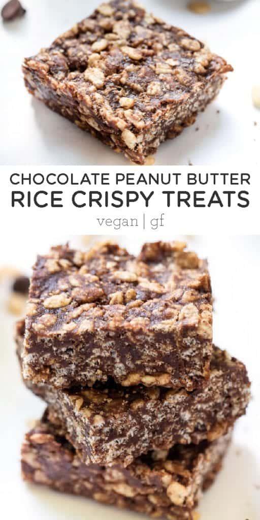 Chocolate Peanut Butter Rice Crispies Treats