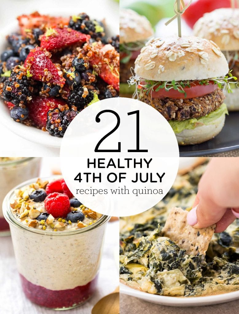 The BEST healthy 4th of July recipes with quinoa