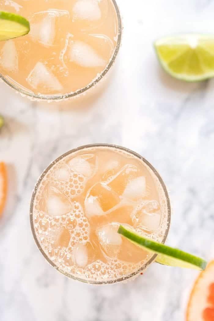 Grapefruit Margaritas with 4 Ingredients