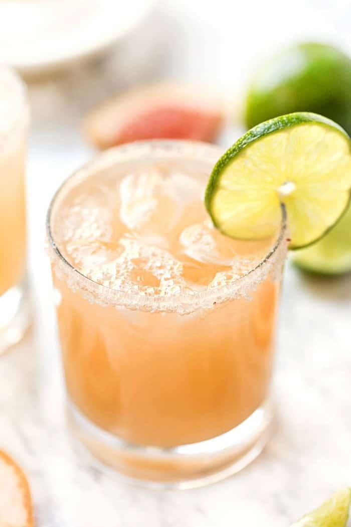 Healthy Grapefruit Margaritas with Lime