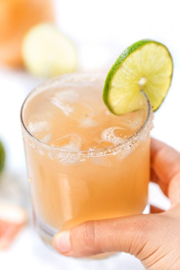 Sipping a Healthy Grapefruit Margarita with Patron