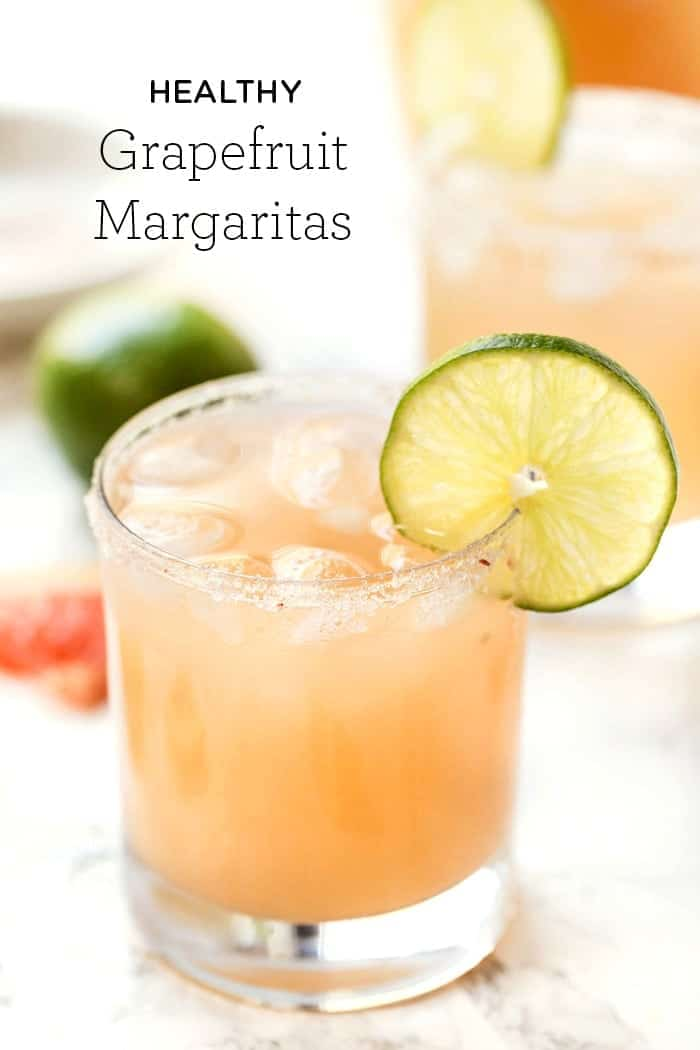 Skinny Margaritas with Grapefruit and Lime