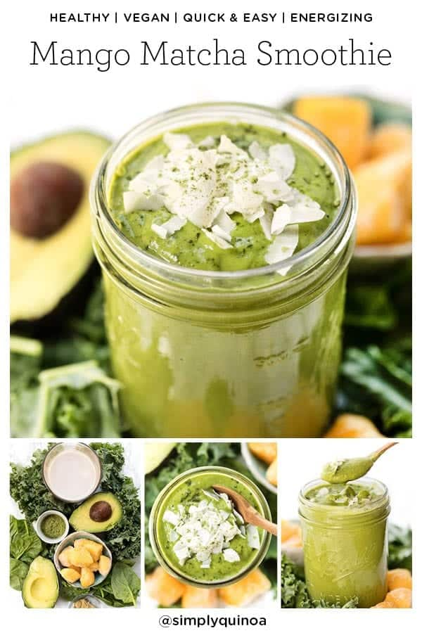 Matcha Smoothie with Mango and Kale