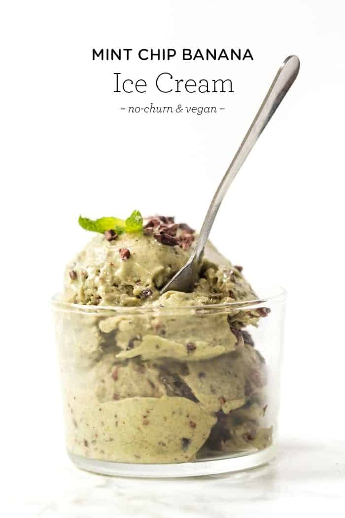 Mint Chip Banana Ice Cream with Avocados