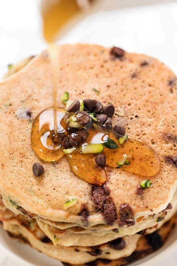 Perfect Vegan Pancakes with Zucchini and Chocolate Chips