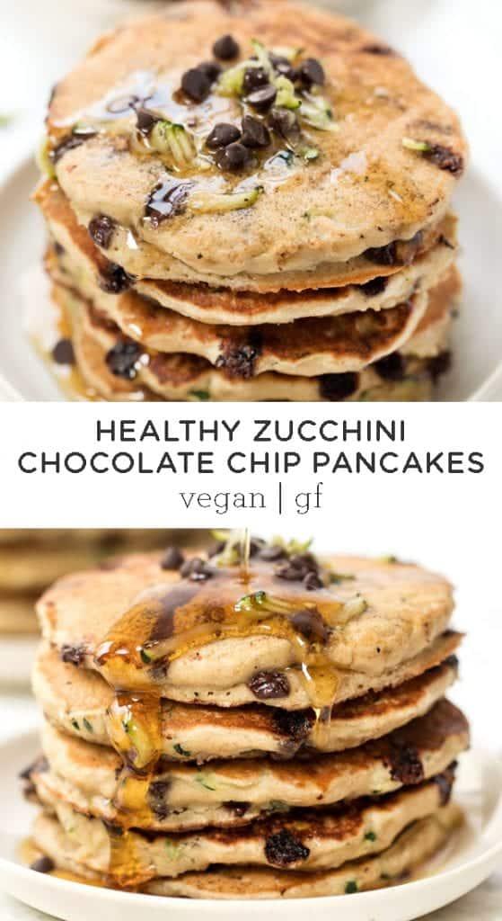 Zucchini Chocolate Chip Pancakes