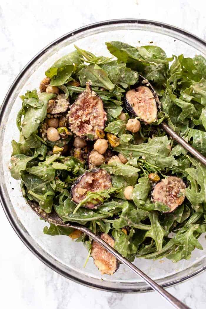 Healthy Arugula Salad with Figs