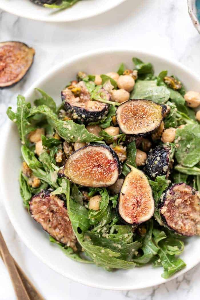 Arugula Fig Salad with Balsamic Dressing