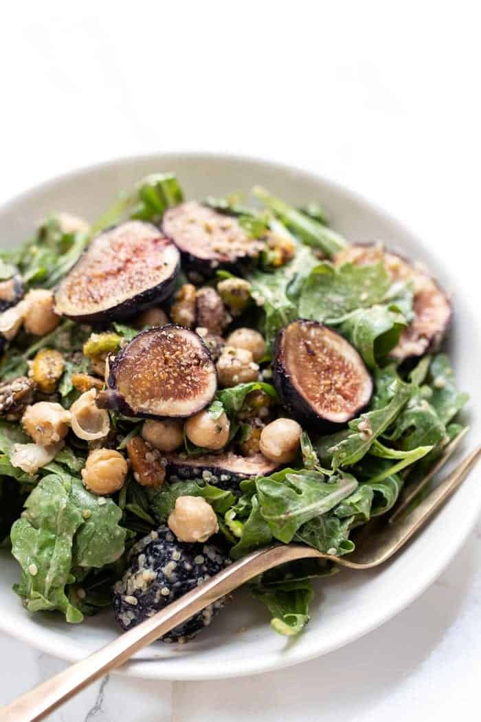 Arugula Salad with Figs and Balsamic Dressing