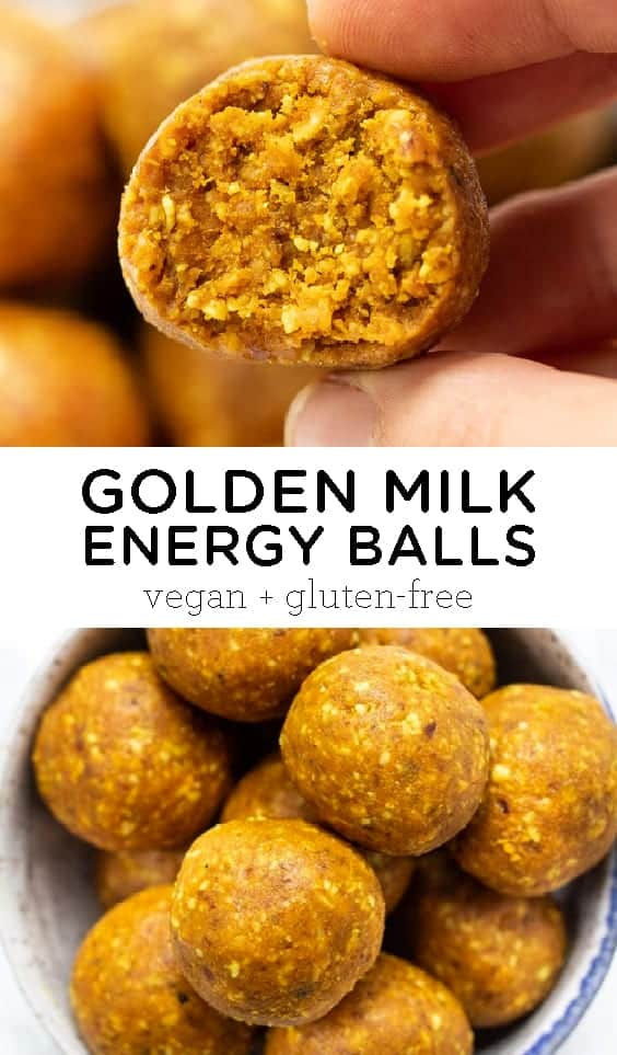 No-Bake Golden Milk Energy Balls