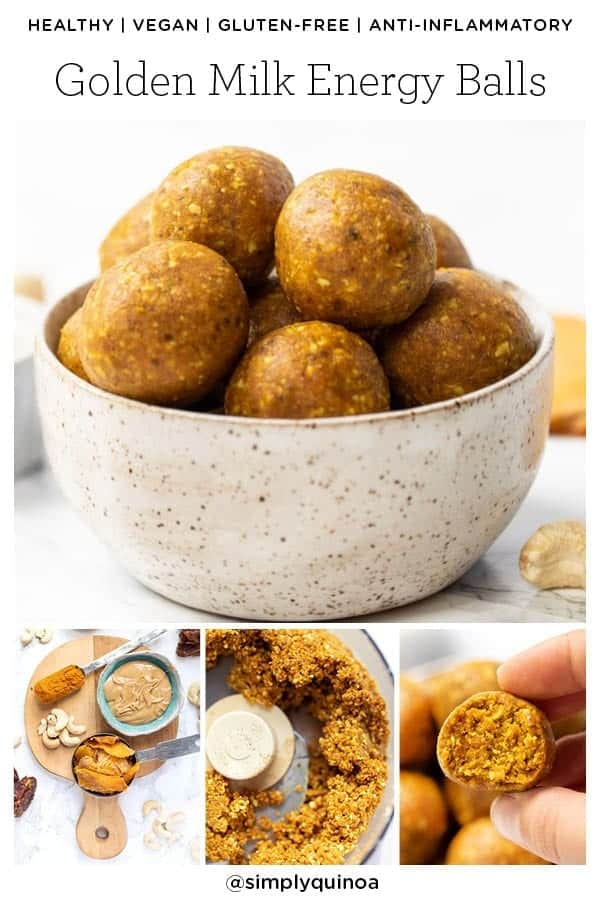 Perfect Golden Milk Energy Balls with Turmeric
