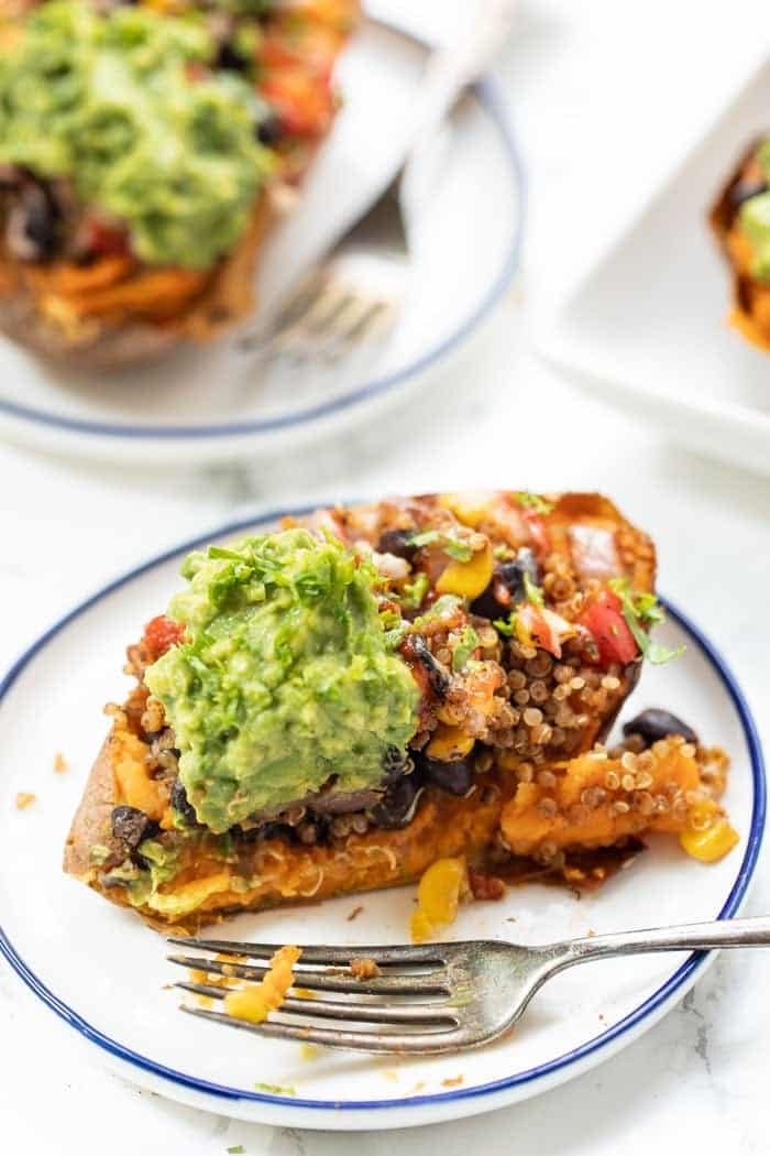 Stuffed Sweet Potatoes with Mexican Quinoa