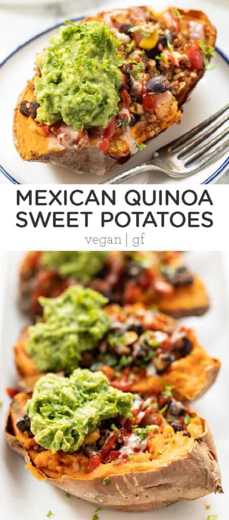 Mexican Quinoa Stuffed Sweet Potatoes