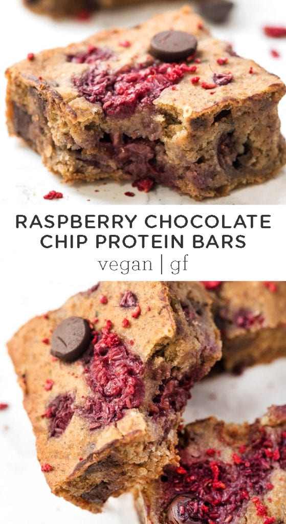 Raspberry Chocolate Chip Protein Bars