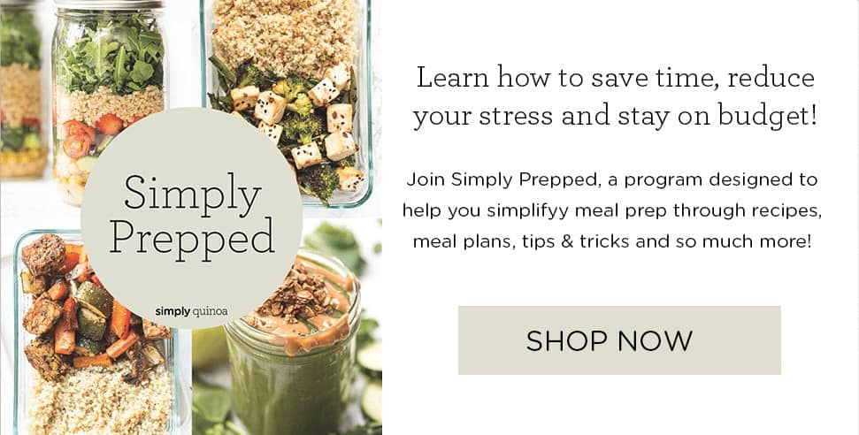 Meal Prep Program Simply Quinoa