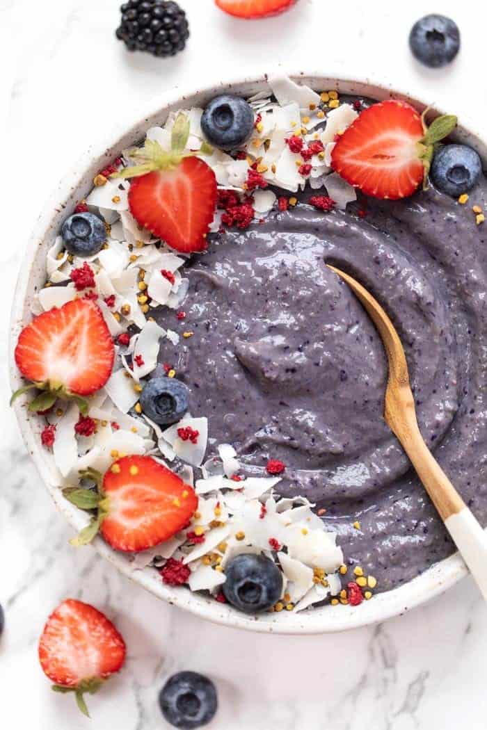 Triple Berry Smoothie Bowl Recipe