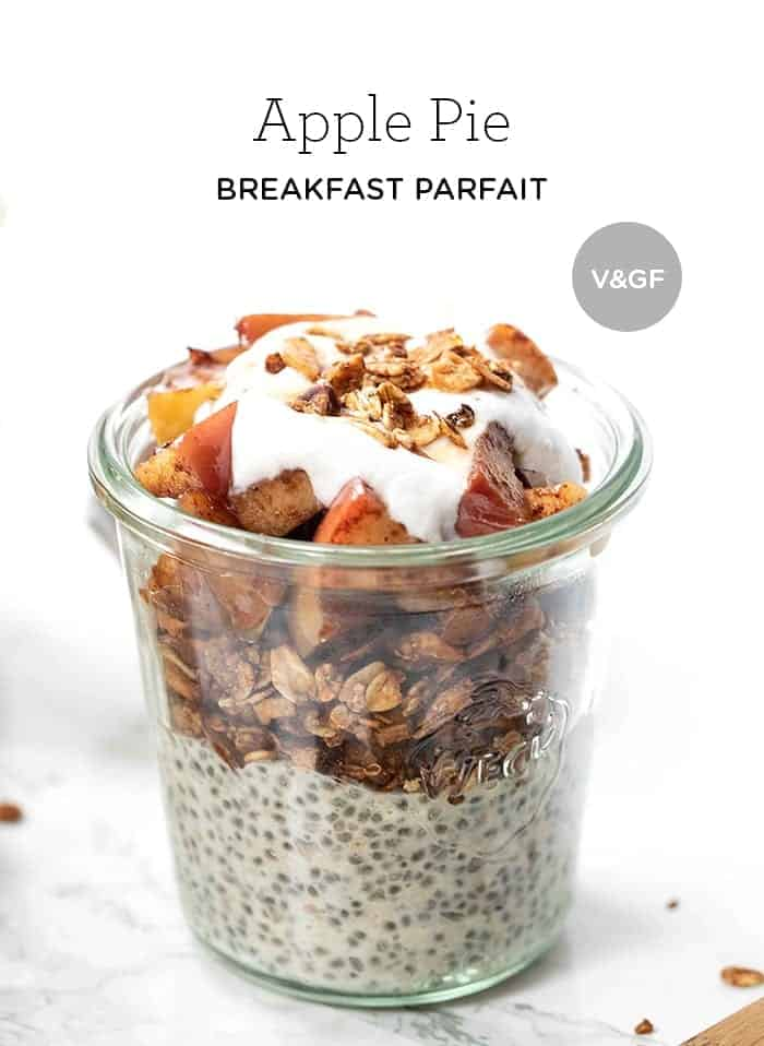 Vegan Apple Pie Breakfast Parfaits