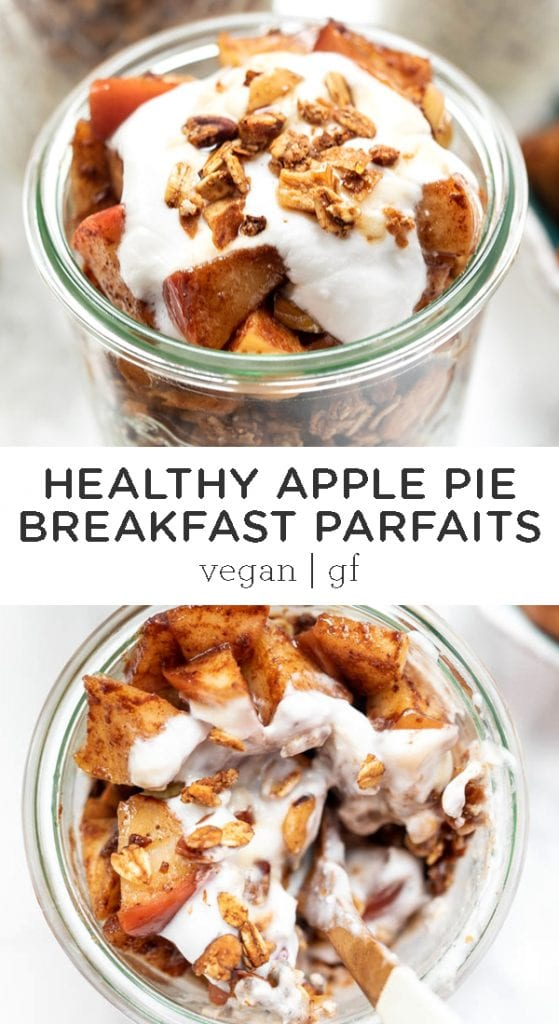 apple pie breakfast parfait