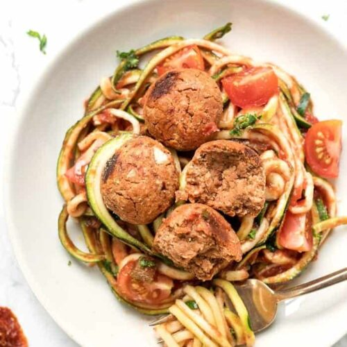 Quinoa Meatballs with White Beans
