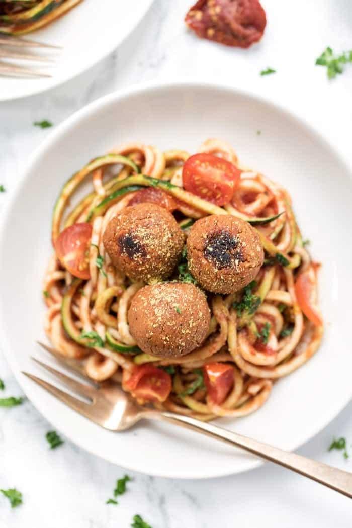 Vegan Meatballs with Tomato Sauce