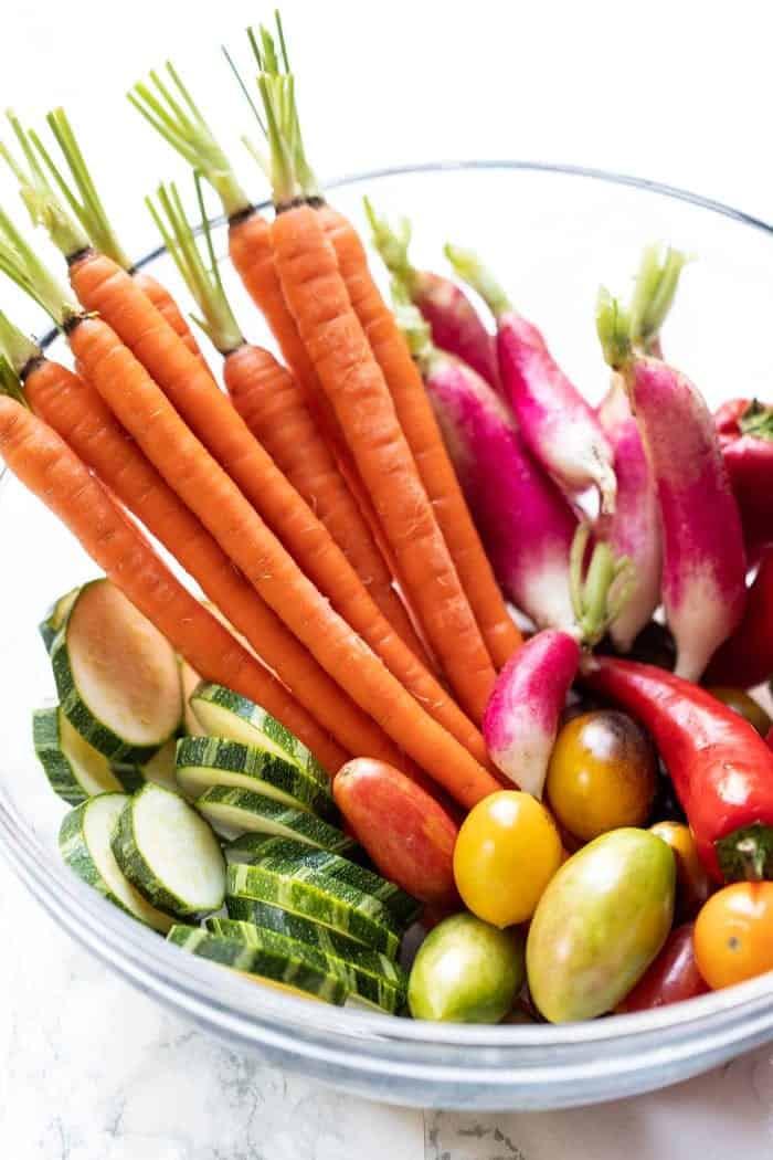 Bowl of Summer Vegetables