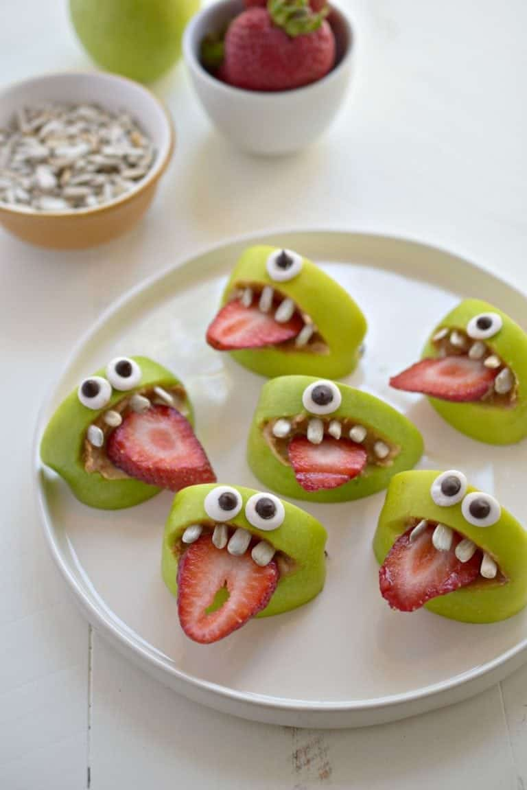 Silly Apple Monsters for Halloween