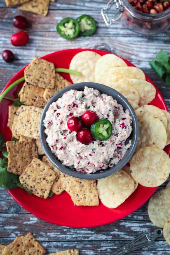 Creamy Vegan Cranberry Dip