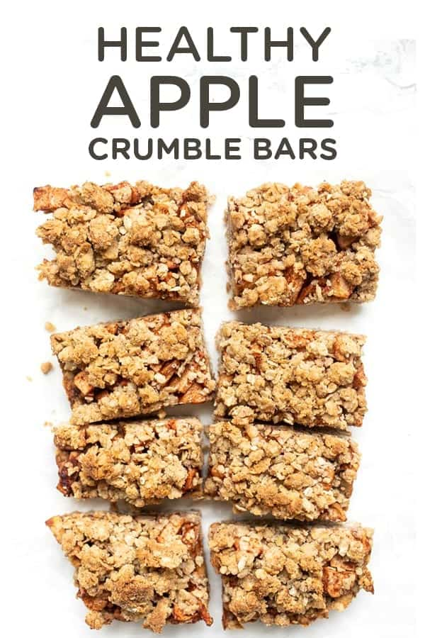 Easy Healthy Apple Crumble Bars