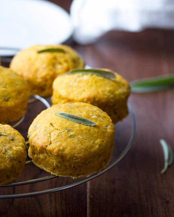 Healthy Pumpkin Sage Biscuits