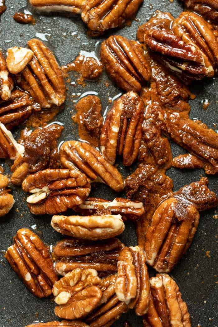 How to make Caramelized Pecans